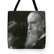 Virginia Woolf With Her Father Tote Bag by Photo Researchers