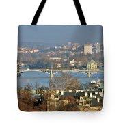 Vltava river in Prague - Tricky laziness Tote Bag by Christine Till