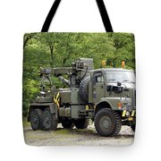 Volvo N10 Truck Crane Of The Belgian Tote Bag by Luc De Jaeger