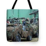 Vw Iltis Jeeps Of A Recce Scout Unit Tote Bag by Luc De Jaeger