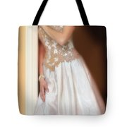 Waiting By The Door Tote Bag by Jill Battaglia