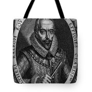 Walter Raleigh, English Courtier Tote Bag by Photo Researchers