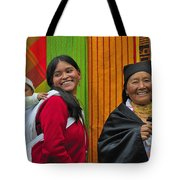 Wandering Through The Market Tote Bag by Tony Beck