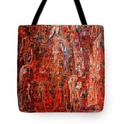 Warm Meets Cool - Abstract Art Tote Bag by Carol Groenen