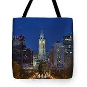 Washington Monument And City Hall Tote Bag by John Greim