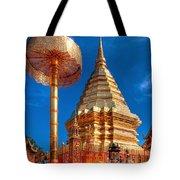 Wat Phrathat Doi Suthep Tote Bag by Adrian Evans