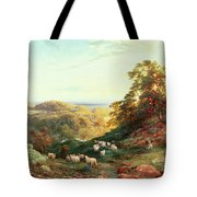 Watching The Flock Tote Bag by George Vicat Cole
