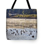 Water Fowl At Lake Wilhelmina Arkansas Tote Bag by Douglas Barnard