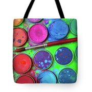 Watercolor Palette Tote Bag by Carlos Caetano