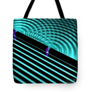 Waves Two Slit 4 Tote Bag by Russell Kightley