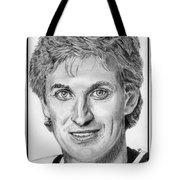 Wayne Gretzky In 1992 Tote Bag by J McCombie