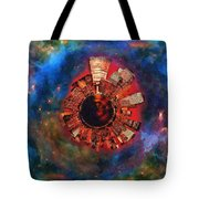 Wee Manhattan Planet - Artist Rendition Tote Bag by Nikki Marie Smith