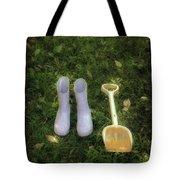 Wellingtons And Shovel Tote Bag by Joana Kruse