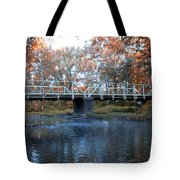 West Valley Green Road Bridge Along The Wissahickon Creek Tote Bag by Bill Cannon