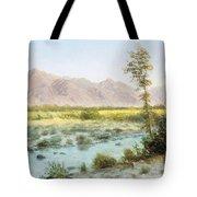 Western Landscape Tote Bag by Albert Bierstadt
