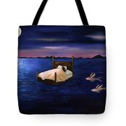 Wet Dreams Tote Bag by Leah Saulnier The Painting Maniac