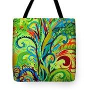 Whirlygig Tree Tote Bag by Genevieve Esson
