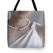 White Pearls Tote Bag by Eena Bo