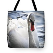 White Swan Tote Bag by Elena Elisseeva