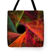 Wide Eye Color Delight Panorama Tote Bag by Andee Design