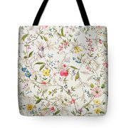 Wild Flowers Design For Silk Material Tote Bag by William Kilburn