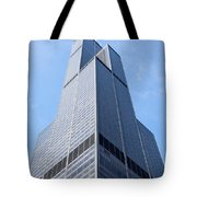 Willis-sears Tower In Chicago Tote Bag by Paul Velgos