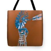 Windmill blue Tote Bag by Rebecca Margraf