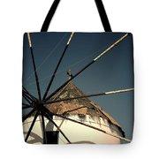 windmill Greece Tote Bag by Joana Kruse