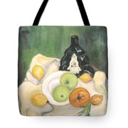 Wine And Fruit Tote Bag by Caroline Street