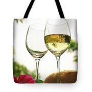 Wine Glasses Tote Bag by Elena Elisseeva