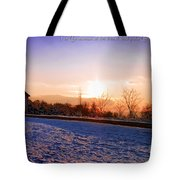 Winter Landscape Connecticut Usa Tote Bag by Sabine Jacobs