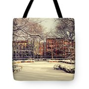 Winter - New York City Tote Bag by Vivienne Gucwa