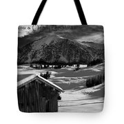Wishing You A Merry Christmas Austria Europe Tote Bag by Sabine Jacobs
