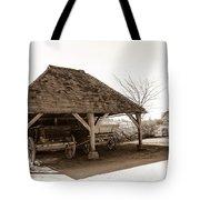 Wiston Wagon Shed Tote Bag by Dawn OConnor