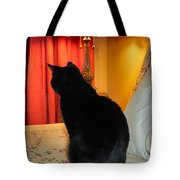 Witches Cat Tote Bag by Michelle Milano