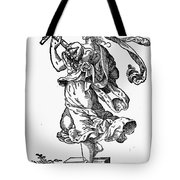 Woman Playing The Lute Tote Bag by Granger