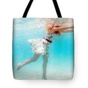 Woman Underwater Tote Bag by MotHaiBaPhoto Prints