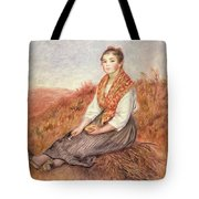 Woman With A Bundle Of Firewood Tote Bag by Pierre Auguste Renoir