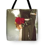 Woman With Roses Tote Bag by Joana Kruse