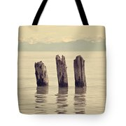 Wooden Piles Tote Bag by Joana Kruse