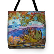 Woolscape Tote Bag by Heather Hennick