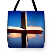 World Largest Cross In Illinois Tote Bag by Susanne Van Hulst