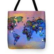 World Peace Tye Dye Tote Bag by Bill Cannon