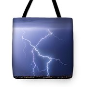 X Lightning Bolt In The Sky Tote Bag by James BO  Insogna