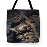 Yakushi-ji Temple Gate Gargoyle - Nara Japan Tote Bag by Daniel Hagerman