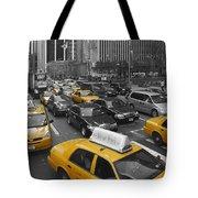 Yellow Cabs NY Tote Bag by Melanie Viola