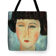 Young Brunette Tote Bag by Modigliani