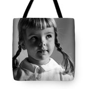 Young Girl Tote Bag by Hans Namuth and Photo Researchers
