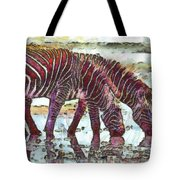 Zebras Tote Bag by George Rossidis