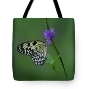 Butterfly On Flower Tote Bag by Sandy Keeton